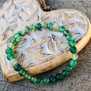Jewelry - 🆕🆕🆕✨GREEN ONYX AGATE STONE BRACELET 6mm✨